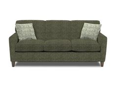 Fresh design and modern details are the way to your heart if you love urban life.  This sofa features a unique wedge arm, sleek tailoring, a plush tight back, and unique window-pane legs.