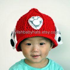 Marshall Hat PAW Patrol Hat Crochet Baby Hat by stylishbabyhats