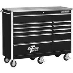 "Extreme Tools 56"" 11 Drawer Standard Roller Cabinet in Black"