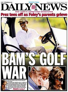"After Saying ""I Should've Anticipated the Optics"" of Golfing After Foley Beheading Speech… Obama Goes Golfing"