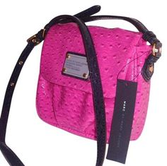 Marc by Marc Jacobs Ostrich Classic Q Isabelle Cross Body Bag
