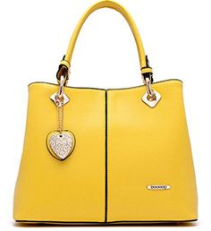 Greatsum Women's Designed Purses and Handbags Shoulder Tote Bag. OCCASIONS: This purses and handbags with heart pendant designed for use during normal occasions and with casual formal clothing. Handbags for any occasion like office, dating, leisure, business, school, party, shopping, etc. Perfect gift choice. STYLES /FEATURES/ MATERIAL: This ladies handbags come in many different styles, like Tote bags, Casual bags, Shoulder bags, and this handbags with a adjustable strap will make you…