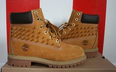 Spiked Golden Timberland Boots