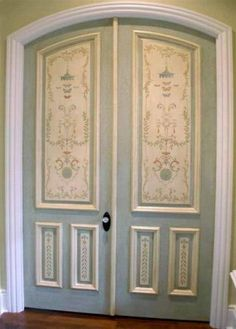 Painted Doors   Jeff Huckaby Painting, Maybe Replicate W Wallpaper For WPu0027s  Room
