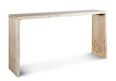 Console Table, Natural Wood The Natural Wood Console Table is a statement piece for any room.  It is the perfect piece for an entryway, living room or dining room. Handcrafted for you, this table has variations which add to the  charm of this custom piece.       Wood   Handcrafted with natural and expected variations   Dimensions: 84