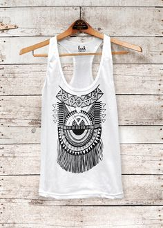 Impala Tank womens white racer back jersey tank top by barkdecor