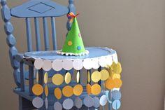 Chaise haute anniversaire bannière cercles par thePathLessTraveled
