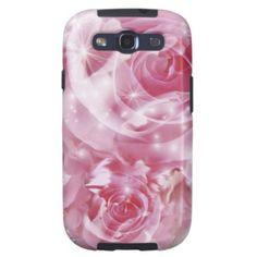 Cobrir cor-de-rosa macio dos rosas S3 Capas Samsung Galaxy S3