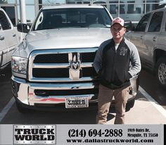 https://flic.kr/p/EnpSHg | Happy Anniversary to Armando on your #Ram #2500 from Jason Thies at Dallas Truck World! | deliverymaxx.com/DealerReviews.aspx?DealerCode=WDBL