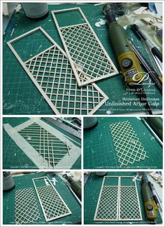 Petit D' Licious: Making Process Arbor Swing Part Arbor gate - Modern Design Dollhouse Miniature Tutorials, Miniature Rooms, Miniature Crafts, Miniature Houses, Miniature Furniture, Diy Dollhouse, Dollhouse Furniture, Dollhouse Miniatures, Girls Dollhouse