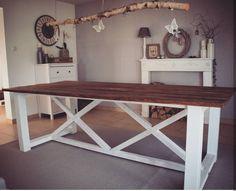 DIY Esstisch Dog Crate Furniture, Diy Pallet Furniture, Home Staging, Diy Esstisch, Diy Dog Crate, Home Projects, Woodworking Plans, Wood Crafts, Crates