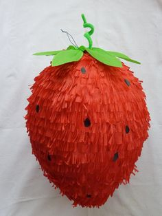 Strawberry Piñata / via Etsy @Melia Procherena Ghering look how cute this piñata!