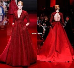2015 elie saab couture evening dresses with crew beaded a line floor length chiffon dark navy prom pageant party gowns unique design - Поиск в Google
