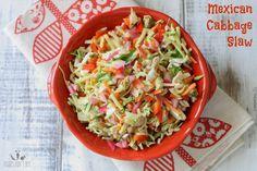 Mexican cabbage slaw with cumin lime dressing | www.veggiesdontbite.com | #vegan #plantbased #glutenfree