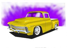 Rendering by Pharouh based on drawing by customcory... I always loved the idea of using a Pontiac Chief fenders and front end on a late '50's Chevy pickup, but these done with a Riviera are insanely cool!    Art & Inspiration •*•*•*• 12/7/12 friday art show •*•*•*• - Page 4 - THE H.A.M.B.