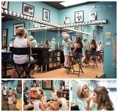 The bridal wedding gets ready in a dance studio right next to Robbins Sanford in Searcy, Arkansas