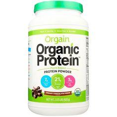 Orgain, Organic Protein Powder, Plant Based, Creamy Chocolate Fudge, 2.03 lbs (920 g) - iHerb