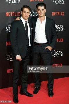Spanish actors Martino Rivas and Yon Gonzalez attend 'Las Chicas Del Cable' premiere at the Callao cinema on April 2017 in Madrid, Spain. Grand Hotel Cast, Gran Hotel, Orphan Black, Gorgeous Men, Beautiful People, Films Netflix, Mejores Series Tv, Plus Tv, Best Series