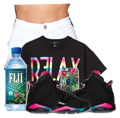 """""""Relax & Just Chill"""" by pinkswagg15 ❤ liked on Polyvore featuring O2 Denim and Forever 21"""