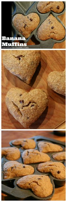 Banana Muffins with Mini Dark Chocolate Chips the perfect breakfast muffin. CeceliasGoodStuff.com | Good Food for Good People