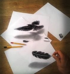 """Illusion: If you enjoy these anamorphic drawings by Ramon Bruin, you will also like this post: """"Popping Out of the Sketchbook.""""     http://illusion.scene360.com/art/34576/drawings-come-to-life/"""