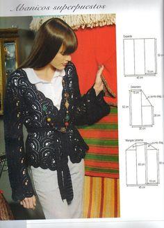 Black Circular Wrap free crochet graph pattern