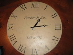 320 * Sycamore: little makeovers    Make your own large clock!!!! HAVE TO DO FOR our house!