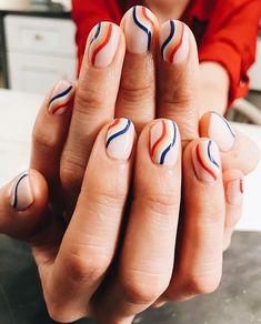 16 Happy Nail Art Designs That'll Boost Your Mood happy nails - Nails Cute Nails, Pretty Nails, My Nails, Nail Manicure, Nail Polish, Gold Nails, Shellac Nail Art, Gradient Nails, Holographic Nails