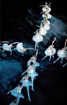 * royal danish ballet performing Tchaikovsky's swan lake, february 1974