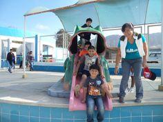 Divirtiéndose nuestros alumnos en la Villa Deportiva Municipal De Chepen