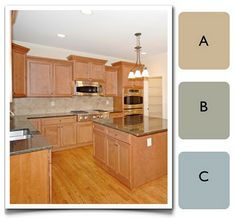 A Color Specialist in Charlotte: How to Choose Color for A Kitchen Kitchen Interior, Kitchen Decor, Kitchen Ideas, Kitchen Tips, Kitchen Counters, Kitchen Designs, House Color Palettes, Kitchen Drawing, Kitchen Pantry Storage