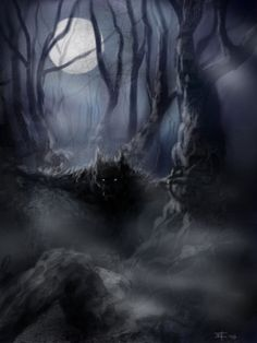 """There's Something in the Woods...."" by - Medb"