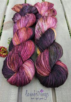 Sadie Sock HT 100g, Hand dyed yarn, Superwash merino wool, Single ply, 400 yds: Red Maple. by Lambstrings on Etsy