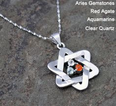 Aries, Aries Pendant, Pendant, Good Luck Charm Necklace, Gemstone Necklace, Zodiac Necklace - Warrior