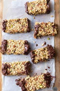 Puffed Rice and Pistachio Energy Bars - Gluten Free and Vegan