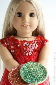 Doll Craft- Sparkly Party Plates from Canning Jar Lids — Doll Diaries