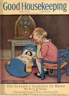 Apr 1932 Good Housekeeping Cover Only Jessie Wilcox Smith