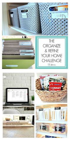 Whether your home needs some minor tweaking or a major organizing reset, I invite you to join the Organize and Refine Your Home Challenge this year! #organizingchallenge #organizeandrefinechallenge #homeorganization #homeorganizing Small Basement Remodel, Basement Remodeling, Diy Garage Storage, Storage Ideas, Life Organization, Organizing, Grace Art, Declutter Your Home, Home Office Decor