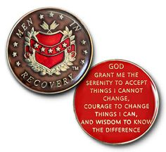 "DRISCOLL'S JEWELRY & GIFTS ""MEN IN RECOVERY"" BROWN SPECIALTY COIN MEDALLION - ALCOHOLICS ANONYMOUS - NARCOTICS ANONYMOUS"