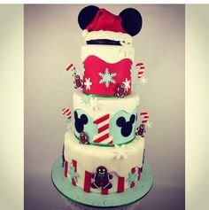 Winter wonderland Mickey cake
