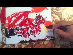 "Раскраска по номерам  ""Дракон"". Subscribe http://bit.ly/21luDi8"