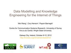 data-modelling-and-knowledge-engineering-for-the-internet-of-things by Cory Andrew Henson via Slideshare