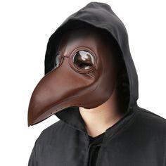 $13.99 - Plague Doctor Mask Bird Beak Steampunk Punk Gothic Masks Halloween Cosplay #ebay #Fashion