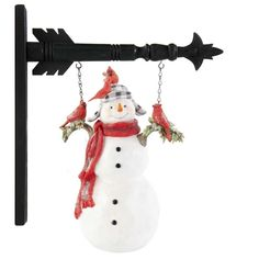 """Resin Sign for Country Arrow Holders /""""FLYING SNOWMAN/"""" Replacement Sign"""