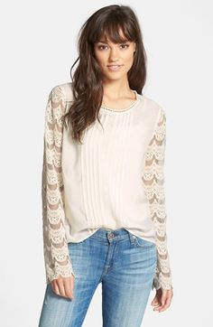 Hinge Lace Sleeve Top