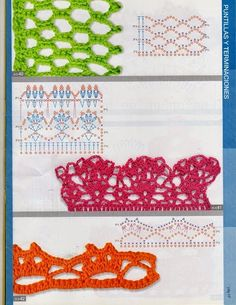 openwork patterns, in Russian, with charts Crochet Stitches Chart, Crochet Borders, Crochet Motif, Crochet Designs, Crochet Flowers, Knit Crochet, Crochet Patterns, Crochet Gratis, Ribbon Design