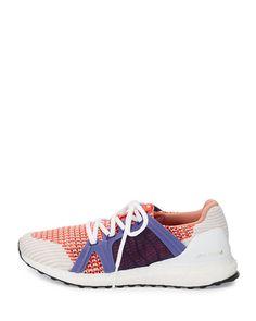 Ultra Boost Running Sneaker, White/Red