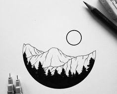 Mini Drawings, Pencil Art Drawings, Cool Art Drawings, Art Drawings Sketches, Easy Drawings, Circle Drawing, Circle Art, Art And Illustration, Doodle Art Drawing