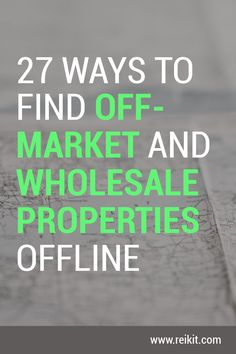 Real estate wholesalers need more ways than ever to find properties. Real Estate Business, Real Estate Investor, Real Estate Marketing, Real Estate Rentals, Selling Real Estate, Real Estate Quotes, Real Estate Tips, Find Property, Investment Property