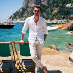 Men's Summer Casual Style Guide The Lost Gentleman is part of Mens fashion casual - Gentleman Mode, Gentleman Style, Summer Outfits Men, Men's Beach Outfits, Outfit Beach, Men Summer Fashion, Fashion Men, Style Fashion, Casual Outfits